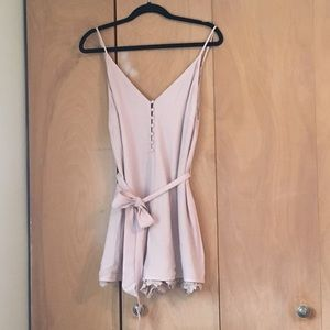 Blush lace romper purchased @ Apricot Lane Peoria